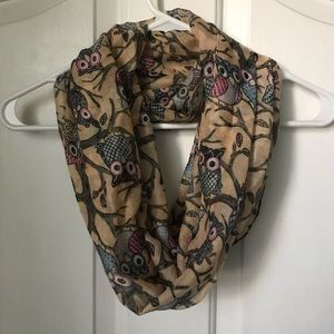 Accessories - owl print infinity scarf